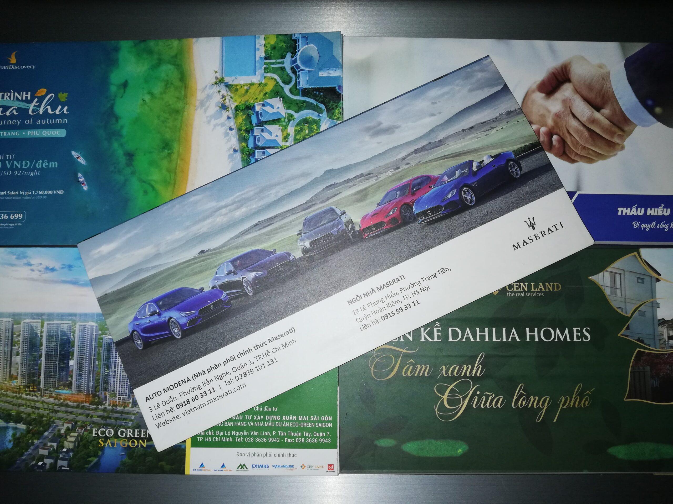 Quảng cáo trên vé máy bay Vietnamairlines
