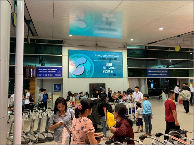 Hộp đèn sảnh đi - Sb quốc tế Tân Sơn Nhất
